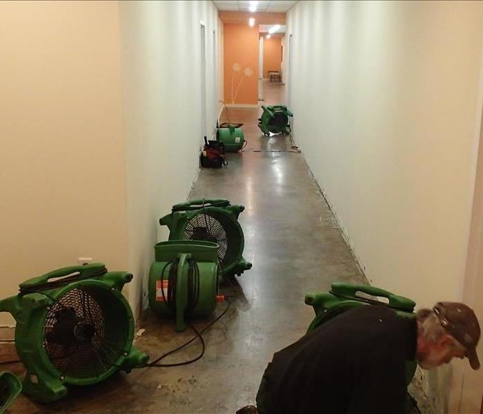 Hallway - Drying Process from Water Damage